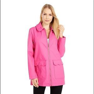 NWT Kate Spade scallop pocket matte rain jacket